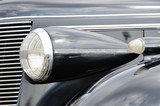 Headlamp of the retro car