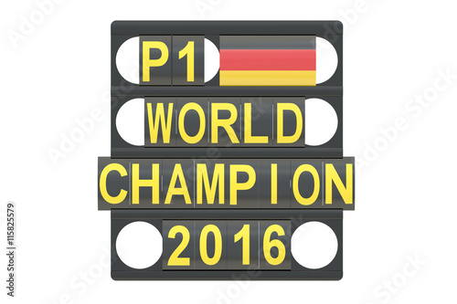 Tuinposter F1 World Champion racing concept, pit board with flag of Germany, 3