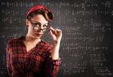 Fototapety Pin-up teacher