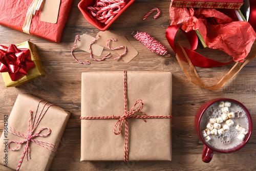Aluminium Chocolade Christmas Presents and Hot Chocolate