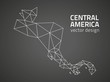 Central America triangle black vector outline maps