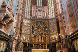 The altarpiece of Veit Stoss in St. Mary's Basilica, Cracow, Poland.