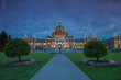 Evening View of Government House in Victoria BC in Canada Using