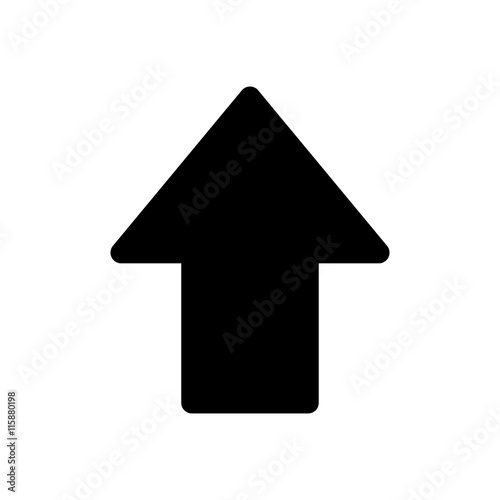 flat design arrow pointing up icon vector illustration buy photos