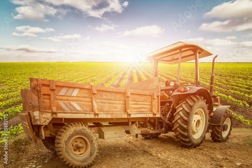 Tractor on the Farm Poster
