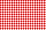 Fototapety rot-weiß Karo Tischdecke Muster kariert Picknick