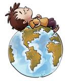 niño en el planeta tierra - 115892361