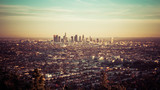 Fototapety Los Angeles skyline at the sunset