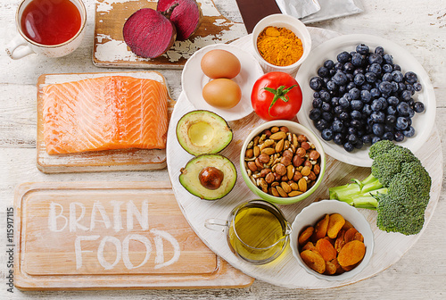 Good Foods for brain. Poster