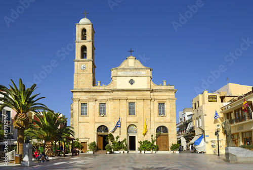 The Cathedral of the Presentation of the Virgin Mary (Trimartiri) of Chania. Chania is the second largest city of Crete, Greece