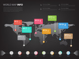 Worldwide map infographic for business presentation and slidesho