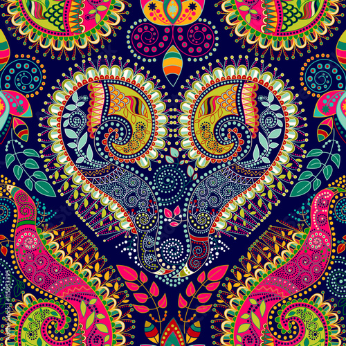 Colorful decorative pattern. Ethnic background - 115953395