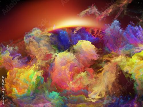 Zdjęcia na płótnie, fototapety na wymiar, obrazy na ścianę : Lights of Space Nebula