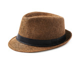 Fototapety Brown fedora hat isolated