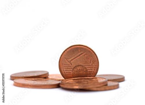 Poster Euromünzen, Cent, Kleingeld, Small change