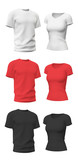 T-shirt template isolated on white - 115980723