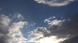blue sky back lit clouds (timelapse)