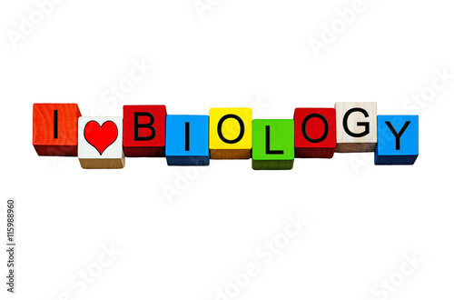 I Love Biology - for biology subject, science & education. Poster