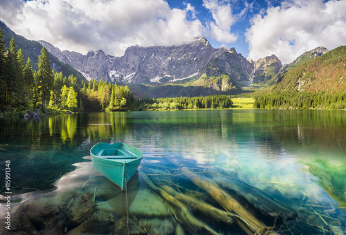 Foto op Canvas Bergen mountain lake in the Italian Alps