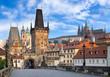 canvas print picture - Prager Schloss und Altstadt