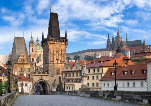 Deurstickers Praag Prager Schloss und Altstadt