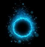 Fototapety abstract cold blue circle smoke