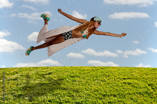 Poster Falling or Flying Woman