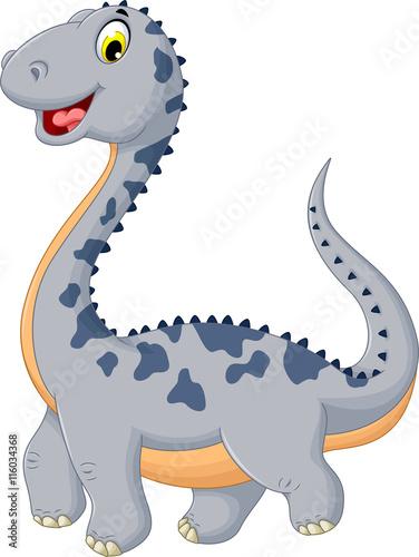 fototapeta na ścianę cute dinosaur cartoon posing