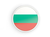 Flag of bulgaria. Round icon with frame
