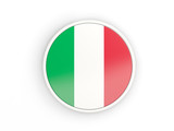Flag of italy. Round icon with frame