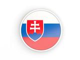 Flag of slovakia. Round icon with frame