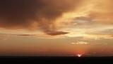 beautiful sunset after the rain