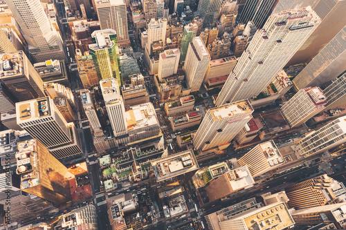 Foto op Aluminium New York Aerial view of Midtown Manhattan