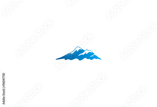 ice mountain volcano logo