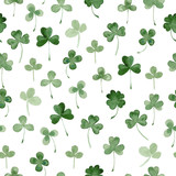 watercolor clover seamless pattern
