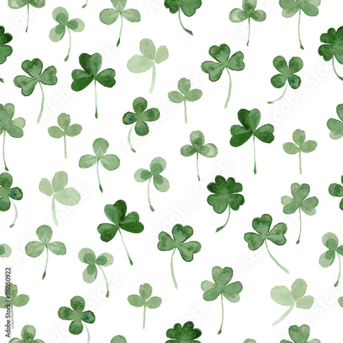 watercolor clover seamless pattern - 116050922