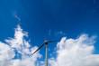 Pala eolica con sfondo del cielo