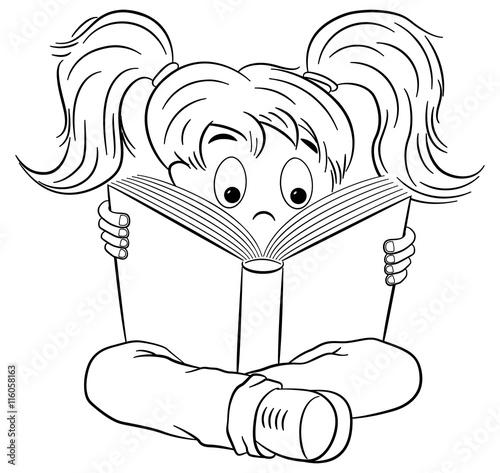 Ungewöhnlich Mädchen Liest Malvorlagen Zeitgenössisch ...