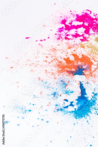 Fototapeta Splattered splotches of paint over white