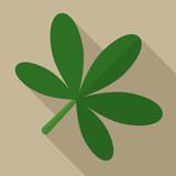 Chestnut leaf flat icon illustration