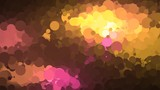 A motion graphic video animation clip with different coloured circles pulsating and changing size.