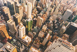 Fototapety Aerial view of Midtown Manhattan