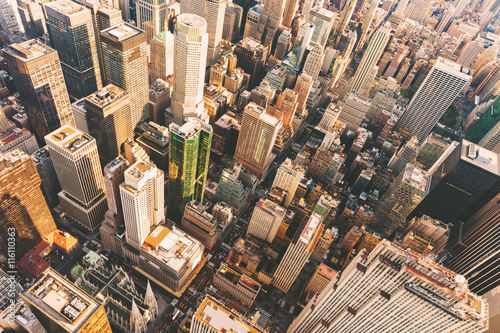 Foto op Aluminium New York Aerial view of Midtown Manhattan