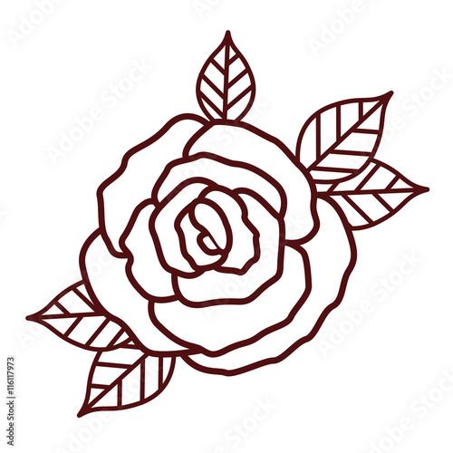 Zdjęcia na płótnie, fototapety, obrazy : beautiful rose isolated icon design, vector illustration  graphic