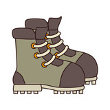 Boot camp footwear ,isolated colorful icon design