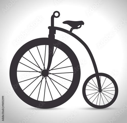 Naklejka vintage Bicycle isolated icon design, vector illustration graphic