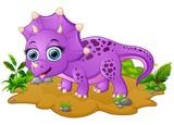 Śliczna kreskówka triceratopsa