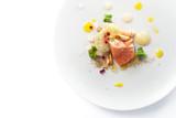 Molecular modern cuisine red fish - 116144984