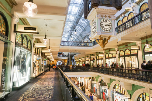 Poster Shops inside the Queen Victoria Building taken on 7 July 2016