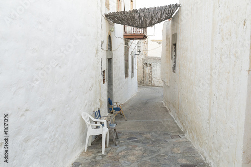 alley in greek island Patmos